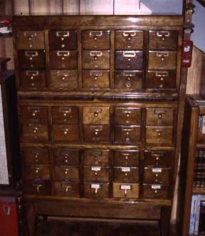 library card file cabinet